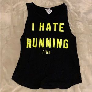 PINK I Hate Running Athletic Shirt
